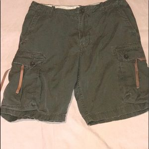 GUC Men's J.Crew cargo shorts. Distressed. Sz 31W